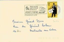 TP N ° 3026 Seul  Sur Enveloppe De  St Etienne - 1961-....