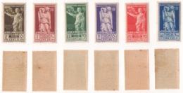 AFRICA ORIENTALE !!! 1938 LOTTO 6 FRANC. BIMILLENARIO AUGUSTEO !!! 21/26 - Eastern Africa
