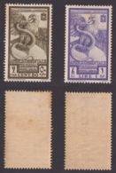 AFRICA ORIENTALE ! 1938 POSTA AEREA 2 FRANC. BIMILLENARIO AUGUSTEO ! A14/15 - Eastern Africa