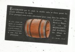 Cartede Visite à Systéme , Détacher Le Petit Tonneau...... , MUSCADET ,  ANDRE VINET , VALLET ,Loire Atlantique,2 Scans - Visiting Cards