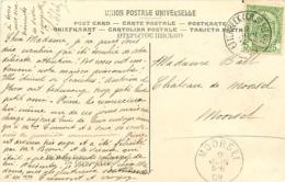 Belgique. TP 83 CPI Etterbeek (Ch. St Pierre) > Moorsel   1909 - 1893-1907 Armoiries
