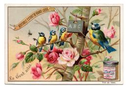 Chromo Liebig S 446 La Gent Ailée Ecole Rosier Perchoir Oiseau école Lecture Alphabet Lettre Professeur Mouche Insecte - Liebig