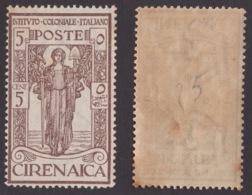 CIRENAICA !!! 1926 5 CT. + 5  PRO ISTITUTO COLONIALE !!! 32 - Cirenaica