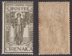 CIRENAICA !!! 1926 10 CT. + 5  PRO ISTITUTO COLONIALE !!! 33 - Cirenaica