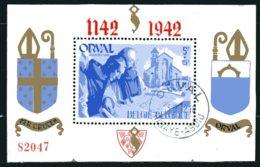BE   BL18    Obl   ---    Bel état  --  Pleine Gomme  --  Belle Oblitération Orval - Blocks & Kleinbögen 1924-1960