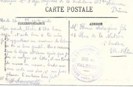 26-cachet Hôpital De L'Orphelinat De La Providence N°205 Bis Valence Sur CP - Poststempel (Briefe)