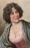 """""""Pretty Lady"""" Nice Vintage German Postcard - Mujeres"""