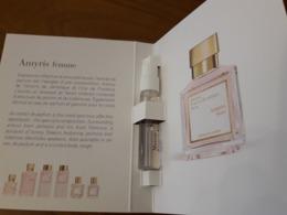 Echantillon Sur Carte  **AMYRIS Femme ** De Maison KURKDJIAN - Cartes Parfumées