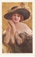 """Pretty, Sweet Smiling  Lady"" Nice Vintage English Postcard - Mujeres"