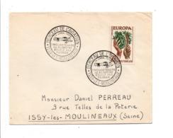 OBLITERATION ISSY LES MOULINEAUX BERCEAU DE L'AVIATION 1958 - Gedenkstempels