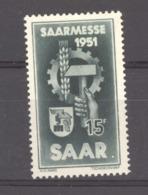 07151  -  Sarre  :  Mi  306 PF  IV  *  Variété: Point Sur Le Marteau - 1947-56 Occupation Alliée
