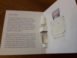 Echantillon Sur Carte  **PETIT MATIN ** De Maison KURKDJIAN - Cartes Parfumées