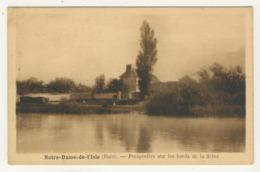 27 - Notre-Dame De L'Isle -      Perspective Sur Les Bords De La Seine - - Francia