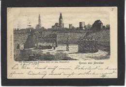 CPA Pologne Polska Polen Circulé En 1898 Précurseur Breslau Gruss - Pologne