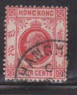 HONG KONG Scott # 90 Used - King Edward VII - Used Stamps
