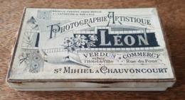 Ancienne Boite Vide - Léon Photographie Artistique à Verdun, Commercy, Saint Mihiel A Chauvoncourt - Médaillé Bar Le Duc - Autres
