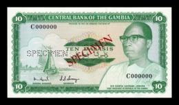 Gambia 10 Dalasis 1972-1986 Pick 6b Specimen SC UNC - Gambia