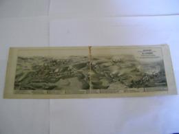 C.P.A.- Imprimé 2 Volets - Longwy (54) - Panorama Bassin Minier & Métallurgique - Dessin Peltier - 1929 - TTB (CR 34) - Longwy