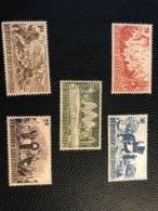 FL 1942 Zumstein-Nr. 166-170 ** Postfrisch - Kompletter Satz - Liechtenstein