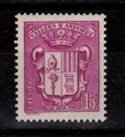 Andorre - YV 52 N** Armoiries Cote 5,50 Euros - Andorre Français