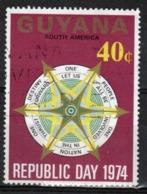 Guyana 1974 Single 40c Stamp From The Republic Day Set. - Guyana (1966-...)