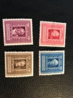 FL 1942 Zumstein-Nr. 171-174 ** Postfrisch - Kompletter Satz (Bug Und Wellig) - Liechtenstein