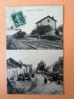 Haute Marne Lécourt Gare Et Rue Animée - France