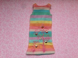 ORIGINAL BARBIE VINTAGE CLOTH Skipper # 1910 Sunny Pastel Dress - Barbie