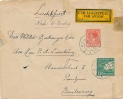 Nederland / Nederlands Indië - 1928 - 75 Cent Luchtpost Op 3e Proefvlucht Van Tholen Naar Buitenzorg - Nederlands-Indië
