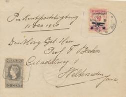 Nederland / Nederlands Indië - 1928 - Curieuze Cover 6e Proefvlucht Van Amsterdam Naar Weltevreden - Indische LP Zegel - Nederlands-Indië