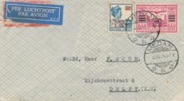 Nederlands Indië - 1931 - 12,5 & 30 Cent Op Cover Met Laatste Vlucht Van De 14-daagse Dienst - Nederlands-Indië