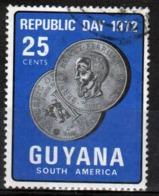 Guyana 1972 Single 25c Stamp From The Republic Day Set. - Guyana (1966-...)