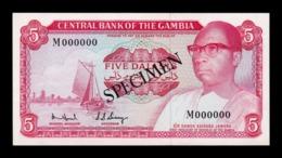 Gambia 5 Dalasis 1972-1986 Pick 5c Specimen SC UNC - Gambia
