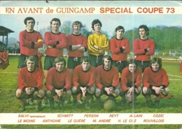 (GUINGAMP  )(22 COTES DU NORD  )( FOOTBALL )( E.A.G.) SPECIAL COUPE 1973 AUTOGRAPHES - Voetbal