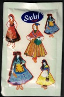 Portugal Sachet Sucre Sugar Sidul Cheesecake De Yaourt Et Costumes Féminins Traditionnels - Sucres