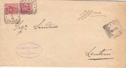 1912 Documento Comunale Da Vizzini Per Lentini - Vinc - 1900-44 Vittorio Emanuele III