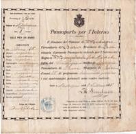 Italy, 1915, Vintage Expired Passport - Provincia Di Bari - Documentos Históricos