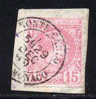 Monaco 1885 Yvert 5 (o) B Oblitere(s) - Monaco