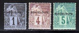 Guadeloupe 1891 Yvert 14 - 16 / 17 * TB Charniere(s) - Neufs