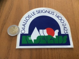 AUTOCOLLANT, Sticker « ALLOS LE SEIGNUS 1400 2425 (04)» (station De Ski) - Autocollants