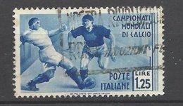 Italie N°   342  2eme Coupe Du Monde Football Oblitéré    B/ TB               Soldè à Moins De 20 %      ! ! ! - Fußball-Weltmeisterschaft