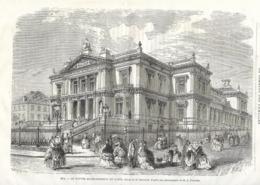 GRAVURE 1876...BELGIQUE..SPA. Le Nouvel Etablissement De Bains...dessin De M. Bertrand - Estampes & Gravures