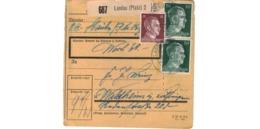 Allemagne  - Colis Postal  Départ Landau ( Pfalz ) -  Pour Waldheim - Allemagne