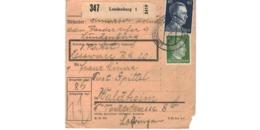Allemagne  - Colis Postal  Départ Lundenburg   -  Pour Waldheim - Alemania