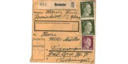 Allemagne  - Colis Postal  Départ Merkweiler - Allemagne