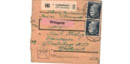 Allemagne  - Colis Postal  Départ Lommatszsch ( Bz Dresden )  - 17-12-42 - Allemagne