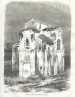GRAVURE 1876...ESPAGNE...Ruines De L'Eglise Saint Michel Près OVIEDO - Estampes & Gravures