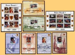 FORMULE 1 - FERRARI - ANGOLA - 8 BLOCS FEUILLETS DE VIGNETTES NEUVES ** - Automobile - F1