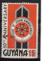 Guyana 1976 Single 15c Stamp From The 50th Anniversary Of St John's Ambulance Set. - Guyana (1966-...)