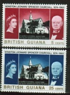 British Guiana 1966 Set Of Stamps To Celebrate Winston Churchill. - British Guiana (...-1966)